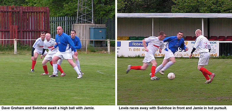 Swinhoe, Graham, Lewis in action against Jamie.