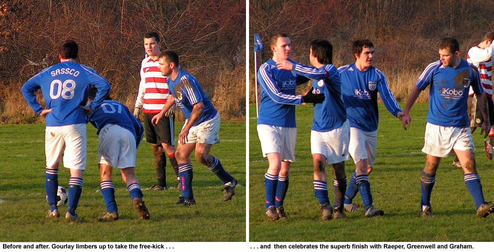 Gourlay's free-kick