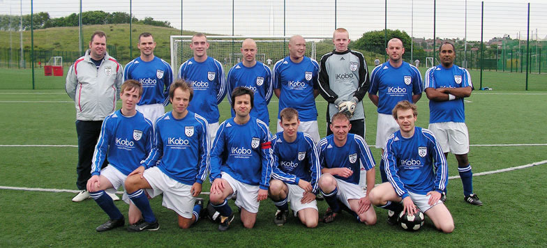 Back row sees Brian Watson, David Graham, Stephen Lewis, Neil Richardson, Lee Cresswell, David Simpson, Simon Mulvaney and Davinder Sangha. The front row shows Ed Morrison, Tim Gillespie, Dave Gourlay, Mark Cresswell, Marc McDermont and Chris Dixon.