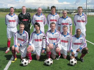 The July 2007 team. Only four players remained as regulars at the end of the season.