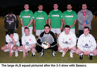 ALS - A Love Supreme squad pictured after the 3-3 draw against Sassco.co.uk