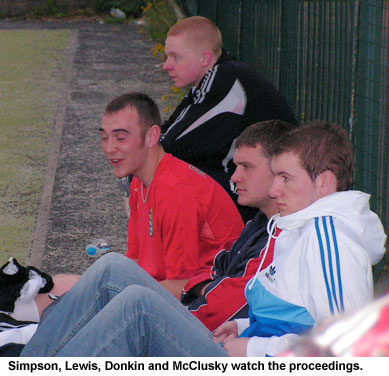 David Simpson, Stephen Lewis, Mickey Donkin and Kevin McClusky.