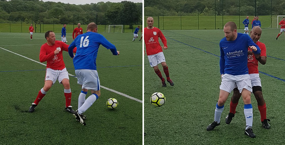 Collinson, Greener and Sangha in action - photos by the injured Dan Smith