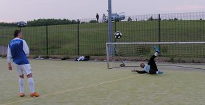 Sangha's sprawling save sends the AGUK Super League title back to Sassco.co.uk.