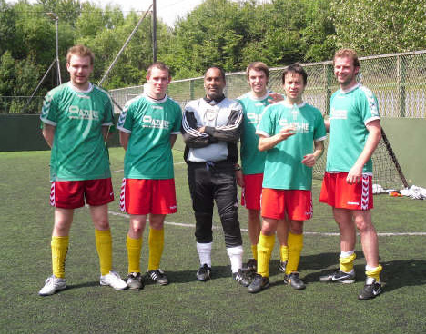 Chris Dixon, Jimmy Raeper, Davinder Sangha, Sam Bindoff, Dave Gourlay, Martin Smith