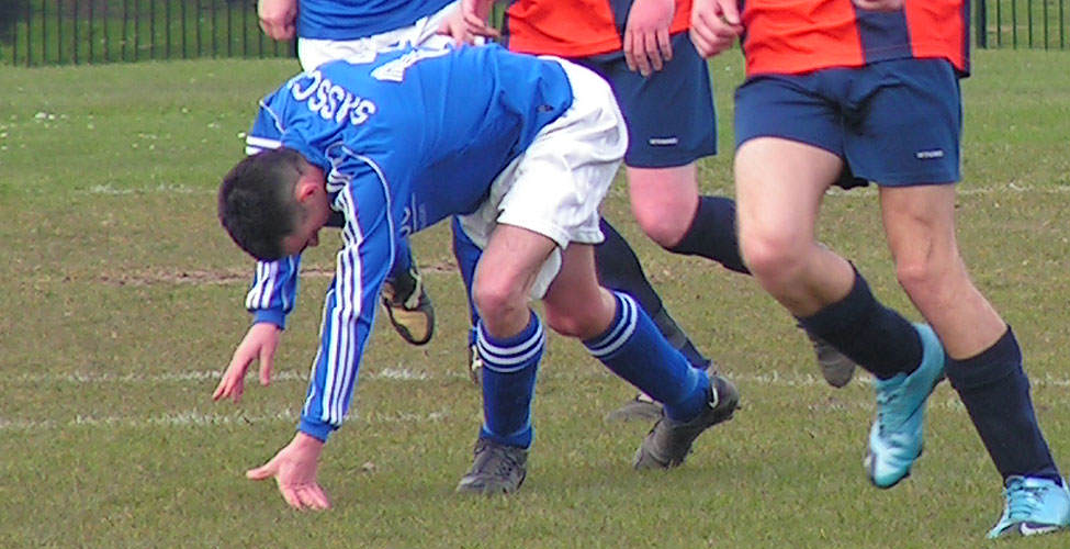 The Miracle Midget is sent tumbling as he was a marked man after his hat-trick.