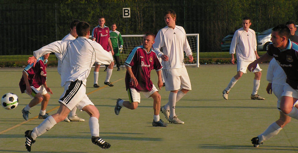 Everyone in action during the Fusion - Impact game.