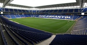 Espanyol Stadium in Barcelona, venue for the Espanyol v Levante game on the 24th October.