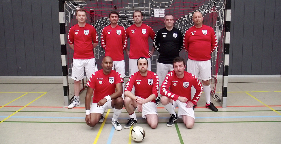 Sassco's line up against Futsal Lions. Tim Gillespie is not in the photo as we think he might have taken it.
