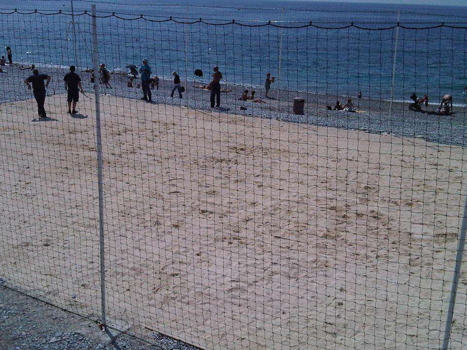 Beach football in Nice.