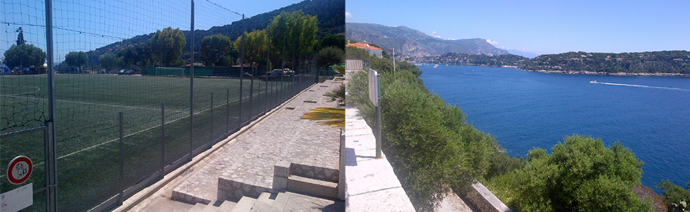 Stade de Football in Villefranche, a ten minute journey from our hotel via bus/taxi.