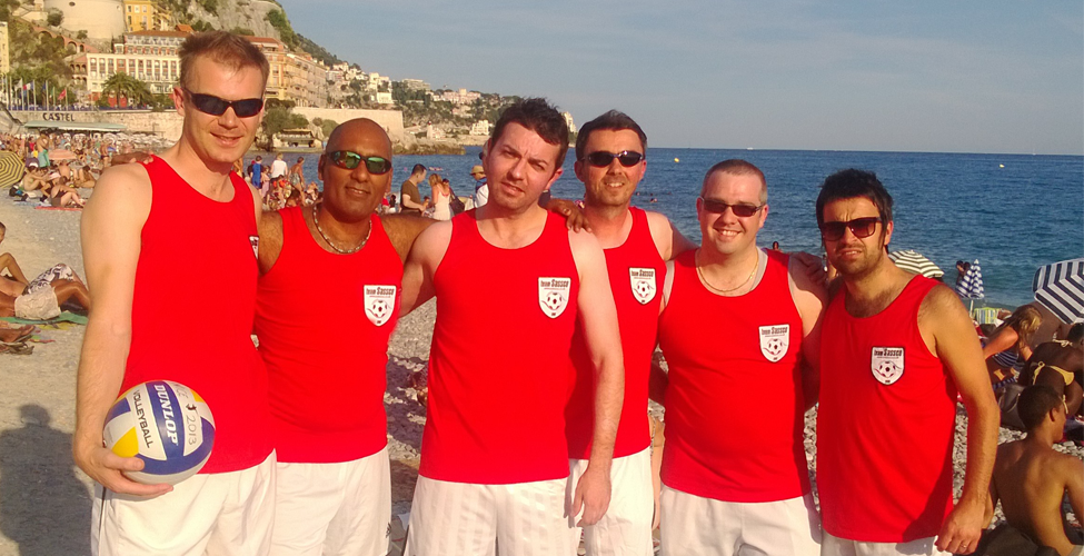 The beach volleyball team. A first for Sassco.co.uk.