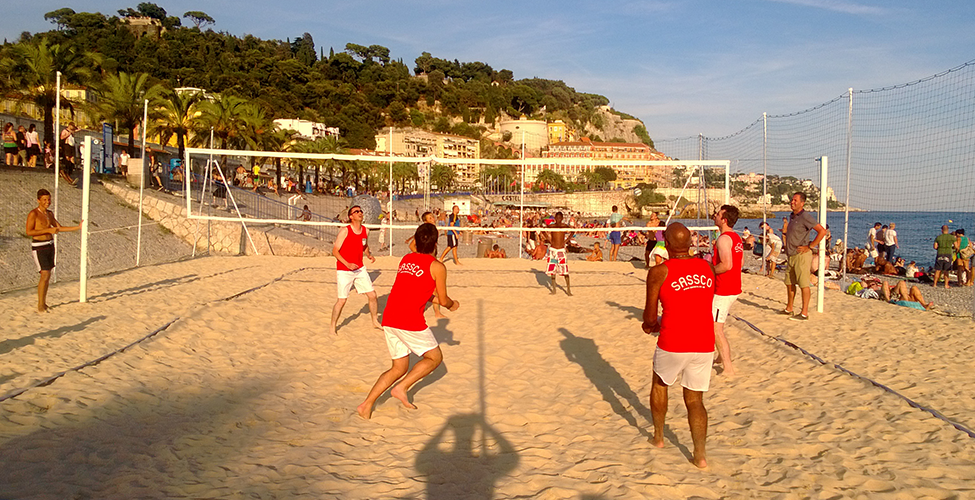Beach volleyball, with Sassco.co.uk in action.