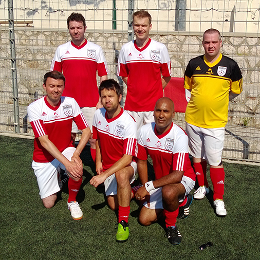 The Sassco.co.uk 5-a-side team.
