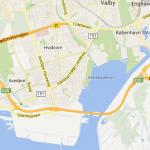 Denmark tour map.