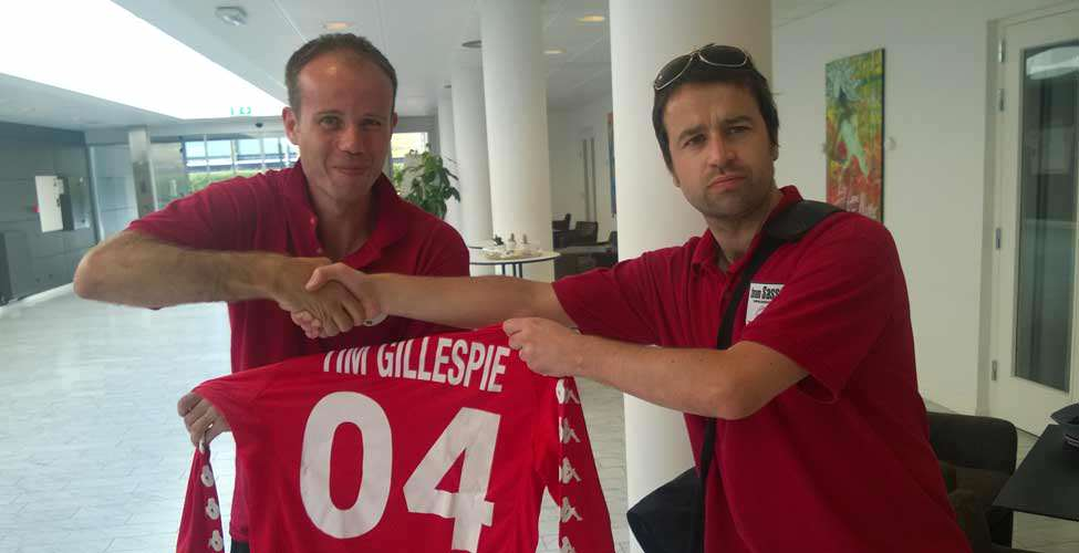 Gillespie finally gets his kit.