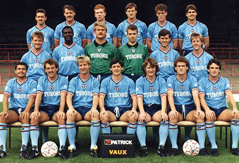 SAFC in the Patrick shirt prior to the 1986 season.