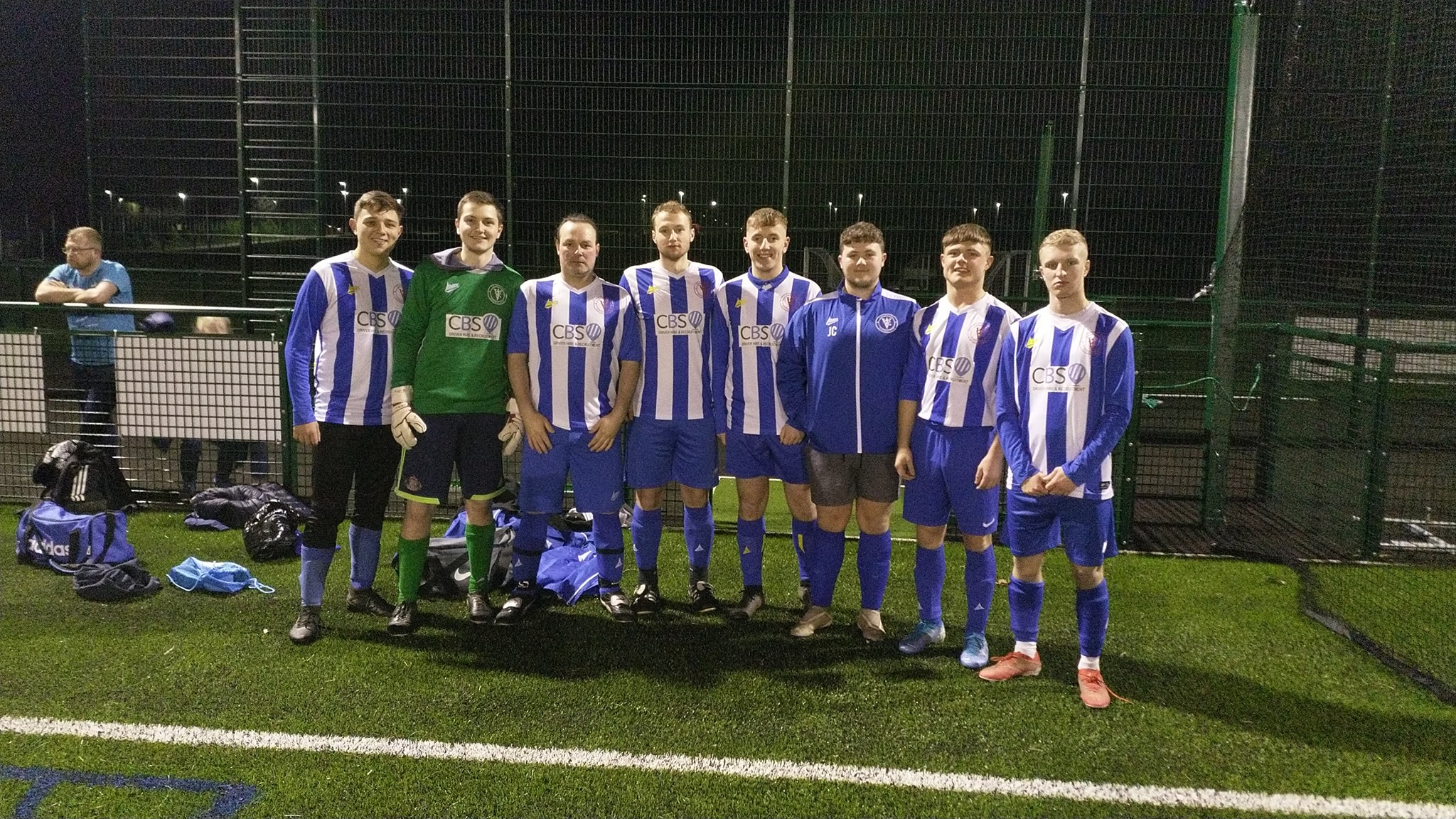 Velocity FC - the youngest team of the night, despite Neil Middlemiss's age.