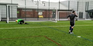 """Davey """"Pie Face"""" Smith saves a penalty for the first time since Portugal in 2009"""