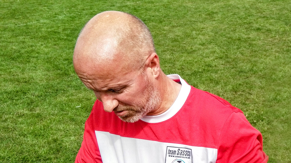 Neil Richardson, who fired in a superb (geri)hat-trick to roll back the years.